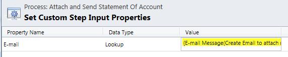 Custom Step Inputs